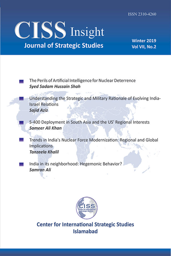 CISS Insight - A Journal of Strategic Studies - Winter 2019